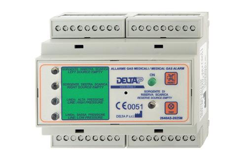 Alarm 2640AS-2025M (5 kanalen, centrale & leidingdruk)