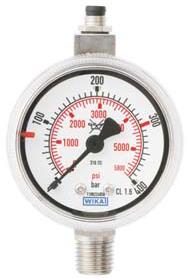 RVS contactmanometers, NPT aansluiting