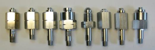 Cilinderaansluitingen verchroomd NPT